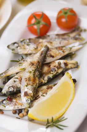 Sardines van de barbecue of uit de grilloven.