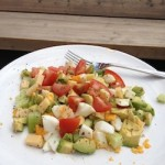 snelle salade avocado tomaat ei