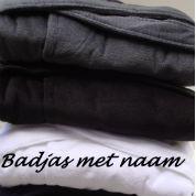 Badjas met naam geborduurde badjas