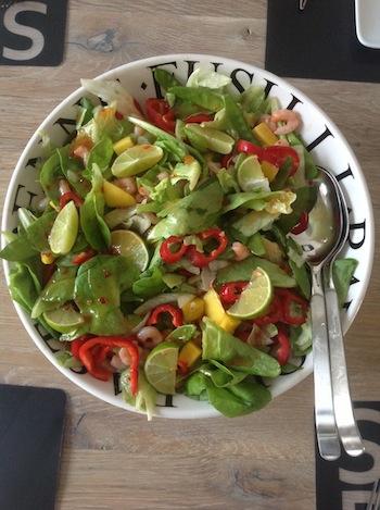 Garnalen mango salade