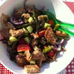 Salade van de barbecue