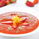 Gazpacho met aardbeien