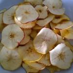 Gezonde chips van groente en fruit