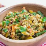 Salade met peulvruchten, winterpeen en quinoa