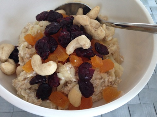 overnight-oats met appel