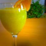 Gezonde smoothie met sinaasappel
