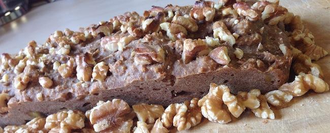 Recept bananenbrood met walnoten