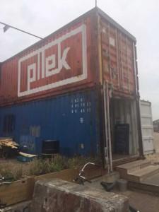 Ingang restaurant Pllek Amsterdam-Noord