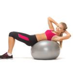 Trainen met een fitnessbal (skippybal)