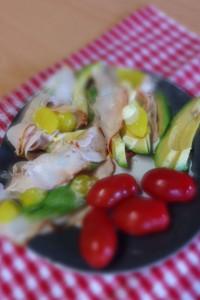 kip en avocado als lunch