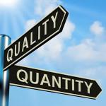 kwaliteit of kwantiteit richtingen