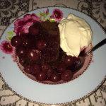 chocolade taart met kersen en mascarpone