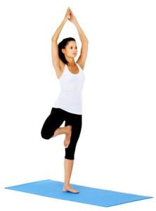 yoga-balansoefening voor rust en balans = de boom