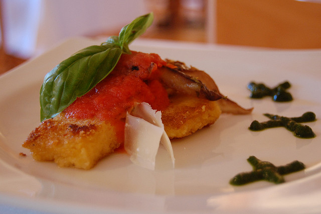 polenta-alternatief-pasta-tomatensaus