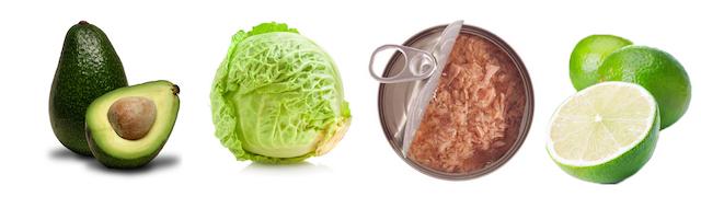 witte-kool-salade-avocado-tonijn
