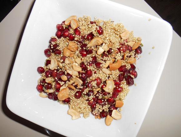 quinoa met granaatappel