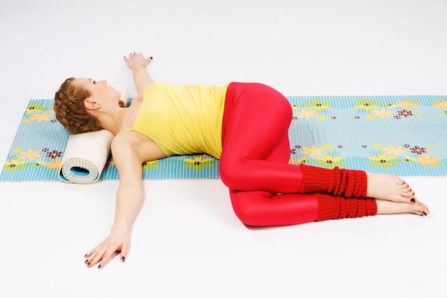 yoga oefening - liggende twist