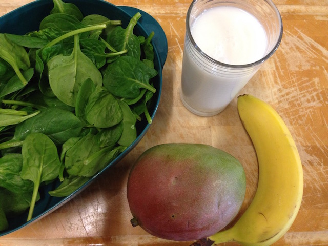 Heerlijke groene smoothie, ideaal voor beginners van gezonde smoothies