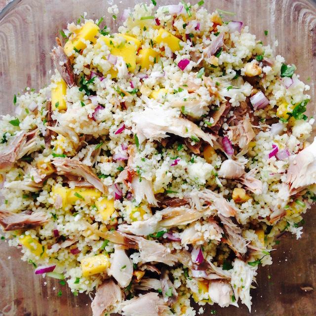 Makreelsalade, koolydraatarm recept