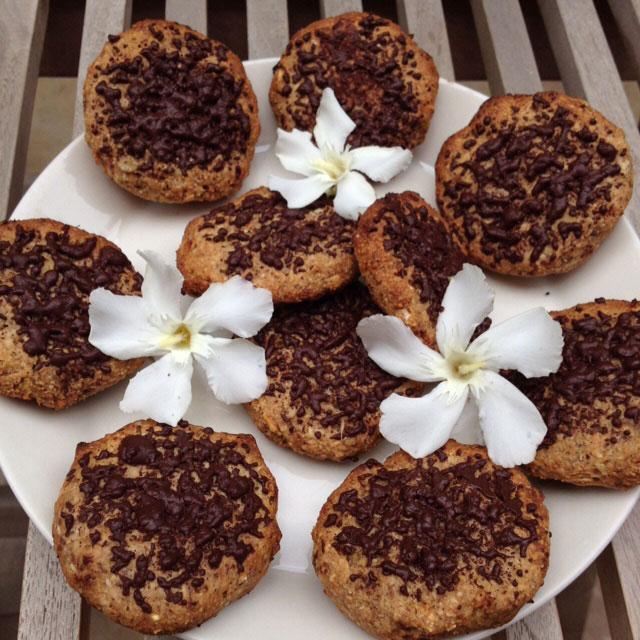 Lekker en gezond: veganistische koeken met havermout en chocola