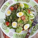 Snelle salade met quinoa en ei