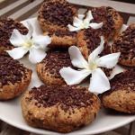 heerlijke gezonde veganistische koeken met chocolade