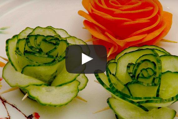 Komkommerroosjes maken gezond eten - Voorbeeld van decoratie ...