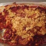 Vegetarische ovenschotel, chili sin carne