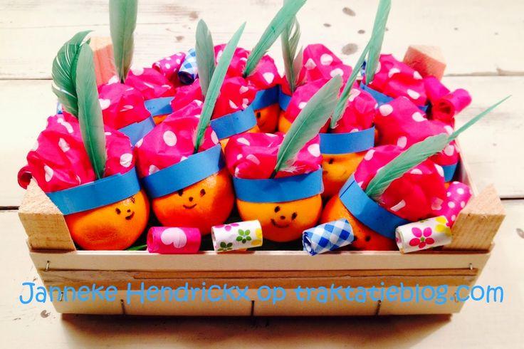 Pietjes maken van mandarijnen