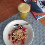 Crunchy ontbijt met peer