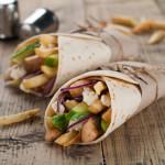 Wraps met kip ui en aardappel