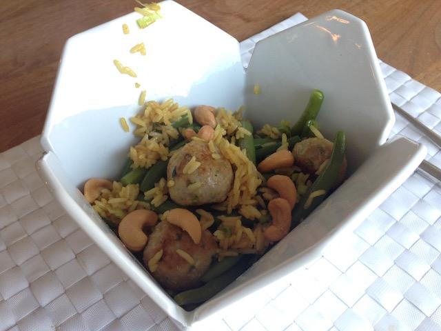 Recept Thaise curry met kipgehaktballetjes
