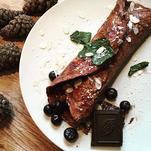 Speltpannenkoek met chocolade, een clean eating recept
