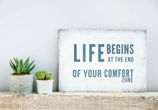 Angst voor succes, angst om uit je comfortzone te stappen.