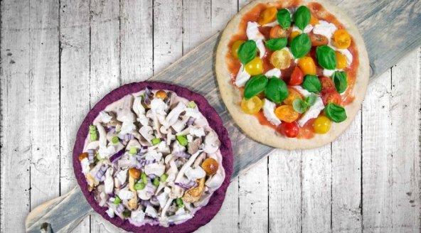 Gezonde pizzabodems van bloemkool en bieten