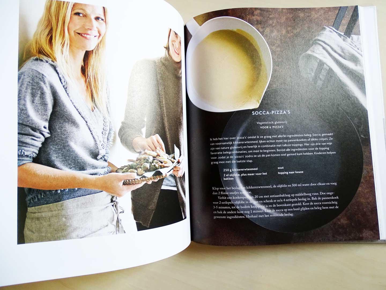 Kookboek Gwyneth Paltrow vol snelle recepten met natuurlijke ingrediënten