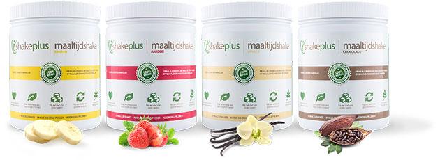 Natuurlijke eiwitshakes zonder suiker, gezoet met stevia