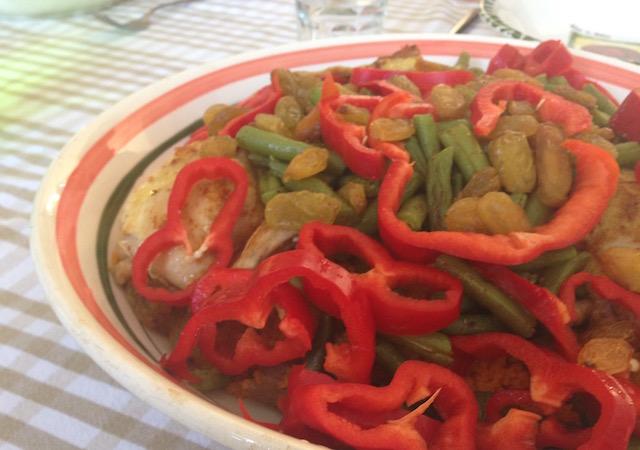 Arabisch recept, couscous met kip en sperziebonen