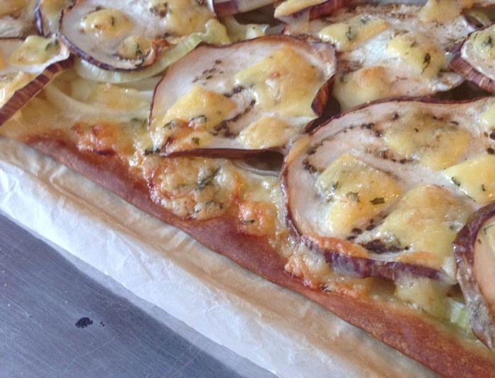 Recept, Flammkuchen met aubergine