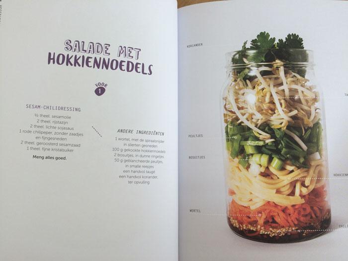 Salades in een pot, makkelijk meenemen