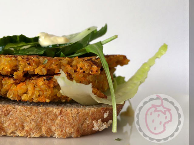 Recept Broodje Wortel-Quinoa-Burger