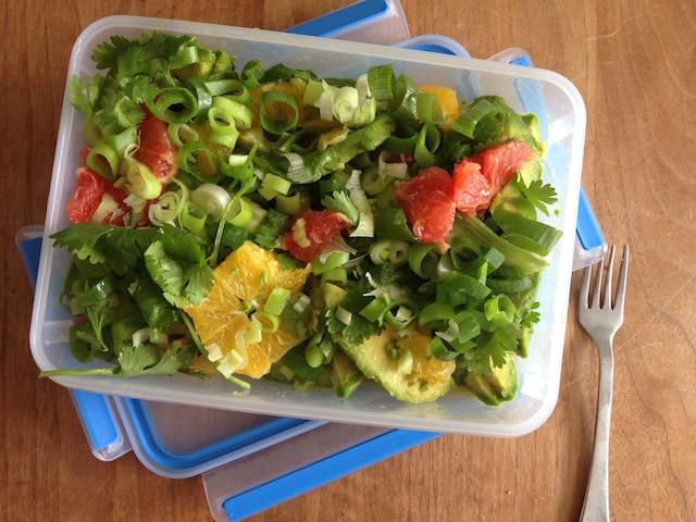 Recept voor een avocado-citrus salade