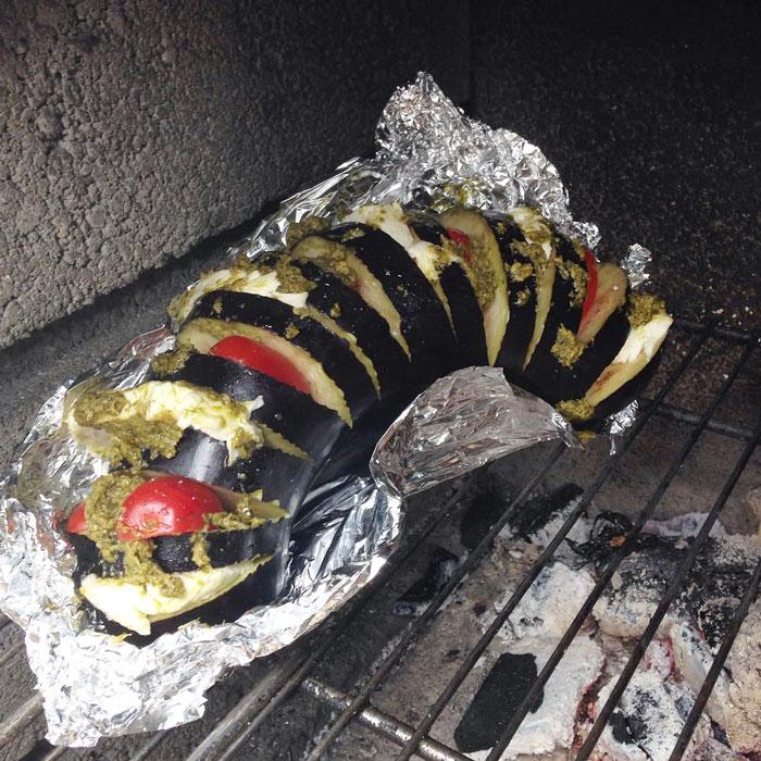 Recept gevulde aubergine