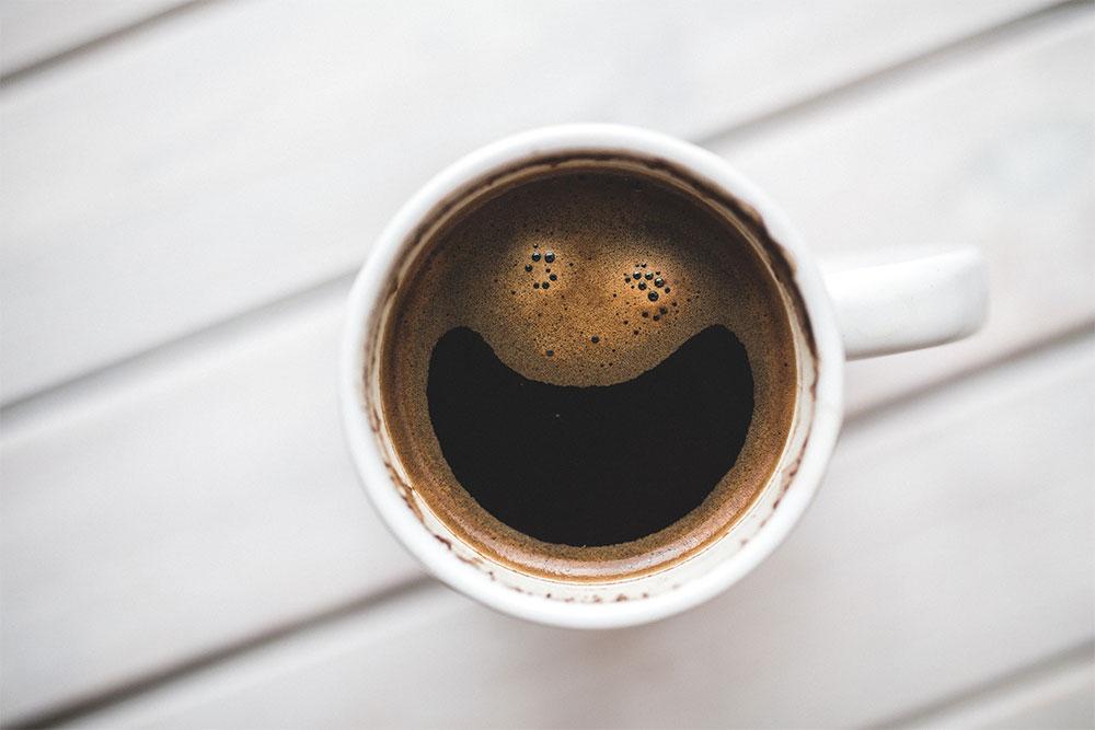 Afvallen en koffie drinken.