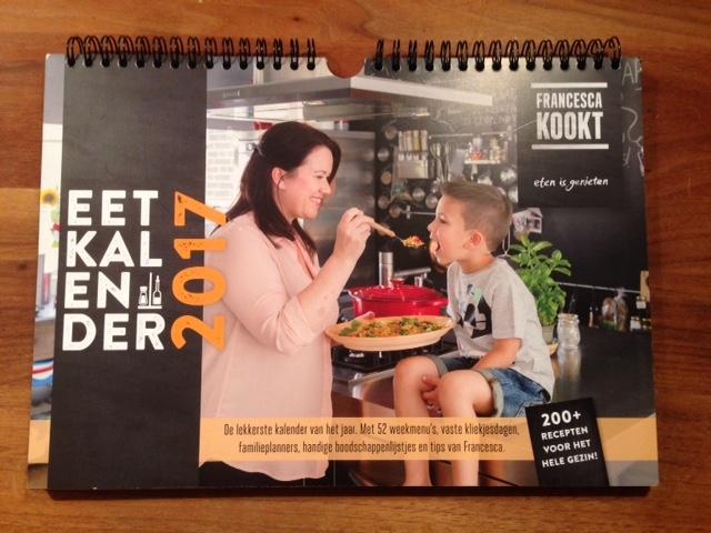 Voor drukke gezinnen, een weekkalender met gezonde maaltijden.