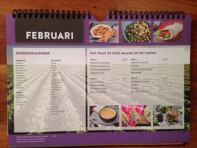 Weekkalender 2017 Gezond eten