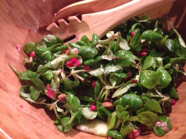 Frisse salade met granaatappel, gezond recept