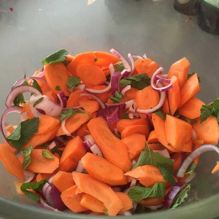 Recept wortelsalade met gehakt