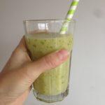 Groene smoothie vol foliumzuur en ijzer