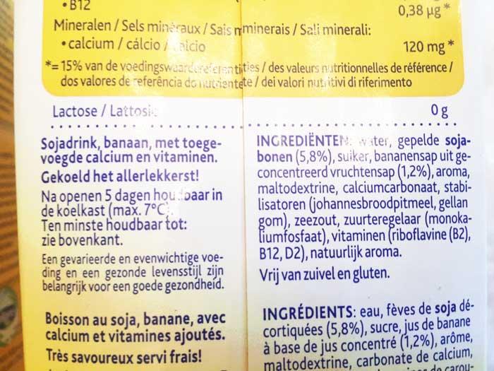 Omschrijvingen suiker op etiket
